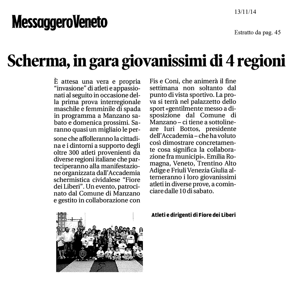 Messaggero Veneto 13.11.2014